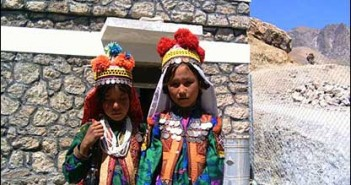 These local girls in traditional clothes came to the clinic in Daikondi