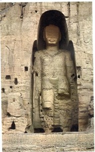 The (19th century) Afghan/Pashtun king Abdurrahman has destroyed the face of Buddha in Bamiyan.