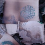Pages of Quranic verses burnt by Taliban Kuchis in Behsud
