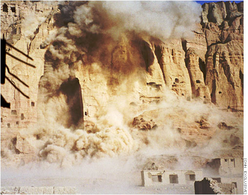 Buddhas of Bamyan destroyed by Pashtun Taliban