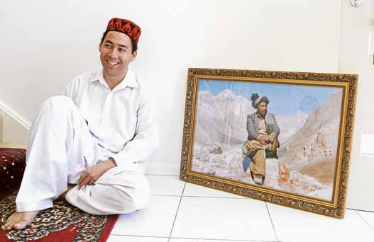 Born leader: Mosa Gherjestani is following in the footsteps of his renowned father Issa Gharjistani (pictured) who helped lead the Hazara people in Afghanistan people before he was assassinated in 1992.Picture: Carlos Furtado