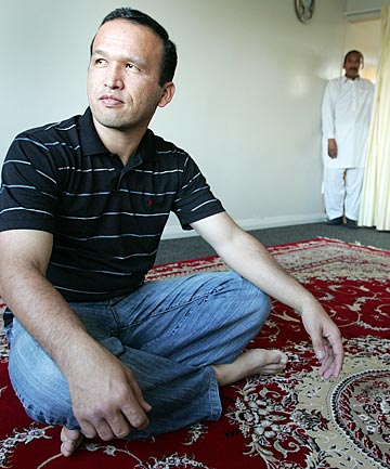 RISKED LIFE: Mohammad Ali Amiri, left, was an asylum seeker on the Tampa in 2001./ CRAIG SIMCOX/The Dominion Post
