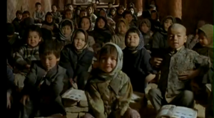 Iran: Hazara children's face in a short film by Samira Makhmalbaf