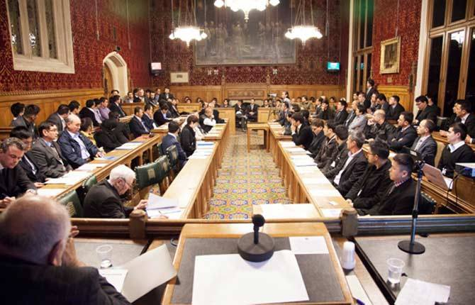 """Conference on """"Hazara genocide in Pakistan"""" at the House of Commons in London. – Photo courtesy author"""
