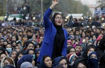 Women in a protest against beheading of seven Hazara passengers on Nov 11, 2015 Kabul, Afghanistan.  Credit: REUTERS/Omar Sobhani