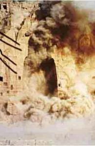 Dynamiting and destruction by Afghan/Pashtun Taliban, March 2001