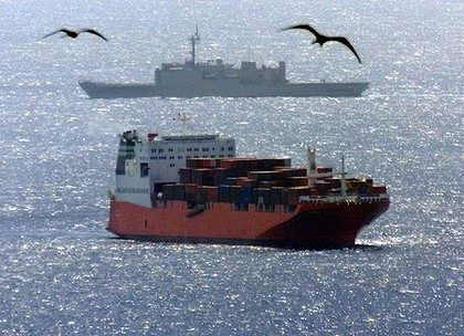 The Norwegian freighter Tampa. Photo: Reuters