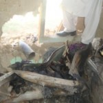 Remnants of the rocket that tore into the Rezai family's home, fired in a government concession to local Taliban. (Photos: Alizada)