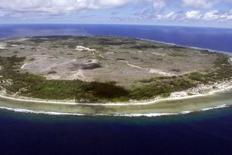 Aerial photo of the island state of Nauru PHOTO An aerial photo of Nauru, rich with natural phosphate. TORSTEN BLACKWOOD: AFP