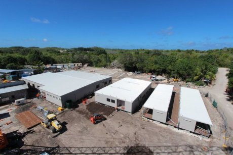 Construction at the immigration detention centre on Nauru on August 14, 2013 PHOTO Administration buildings (rebuilt after a riot) at the regional processing facility for asylum seekers on Nauru. SUPPLIED: CONSTRUCT CONSTRUCTION