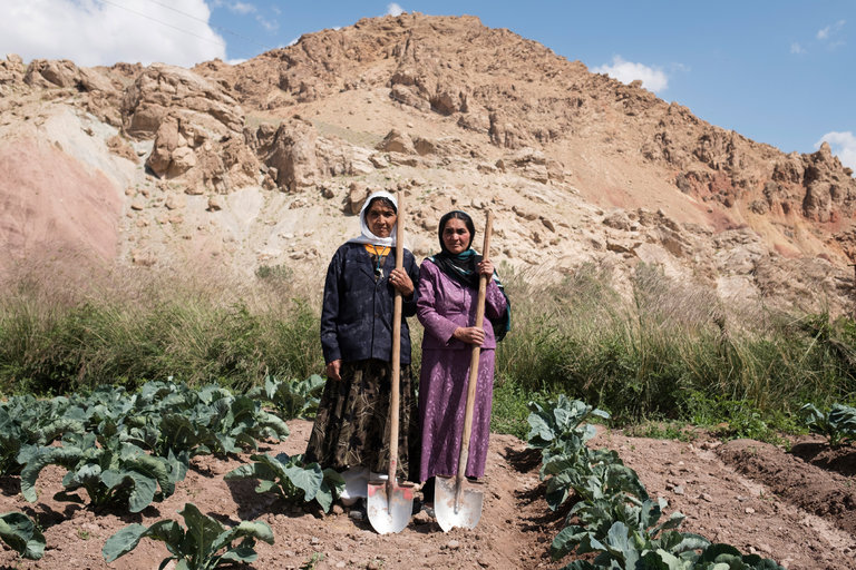 Women who are part of a farmers union last month in the Shibar Valley in Bamiyan Province, Afghanistan.